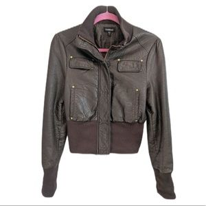 Bebe brown faux leather jacket